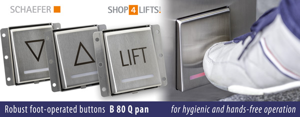 Foot-operated button B 80 Q pan