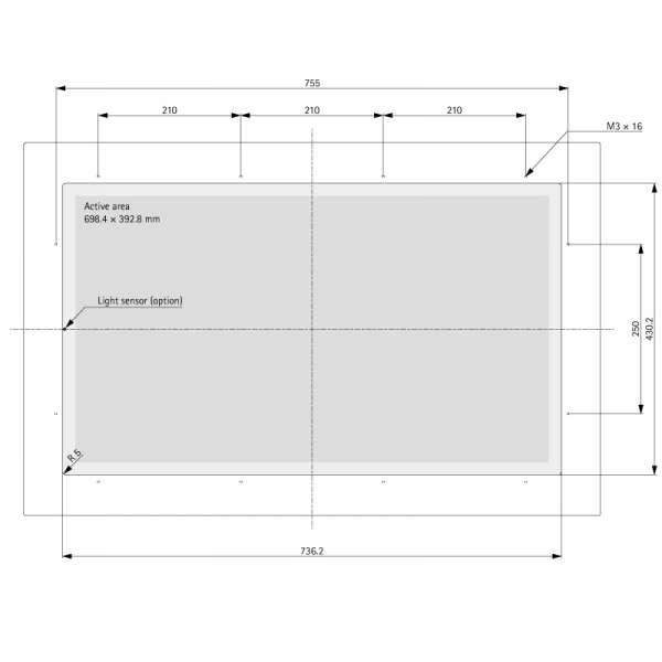"31.5"" (Touch) Media TFT Flex V2.0"