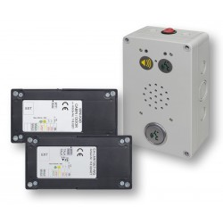 Fire-fighters communication system set with MR surface-mounted