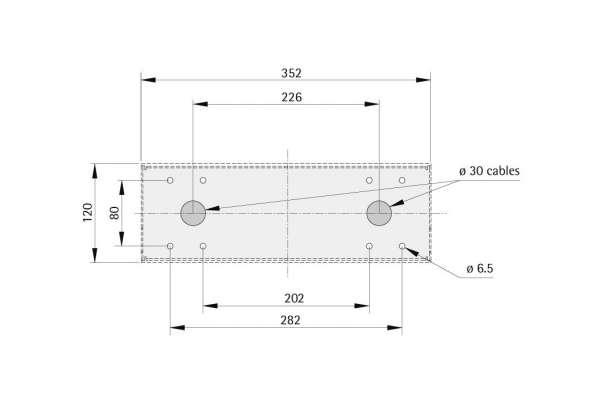 Anzeigetableau SIMPLE 352 Pultform