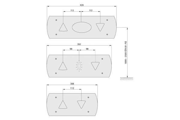 Anzeigetableau 135 EPSILON (Aluminiumprofil-Kasten)