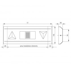Indicator fixture 110 prism-shaped