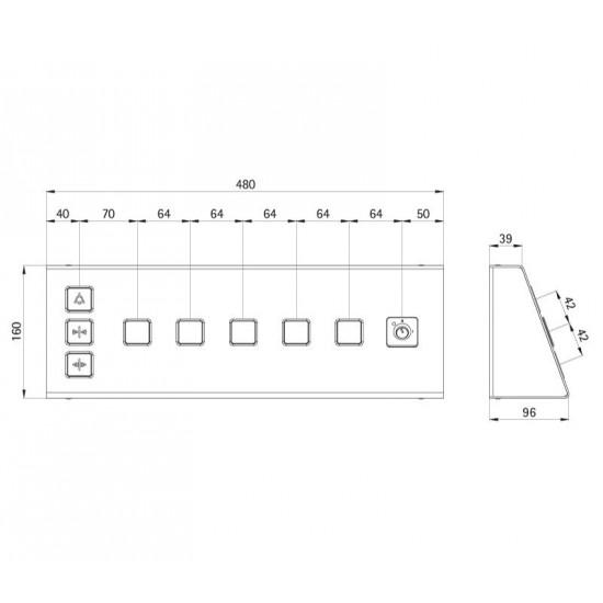 Desk-shaped Fixture BudgetLine