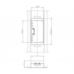 COP telephone box (aluminium profile back box)