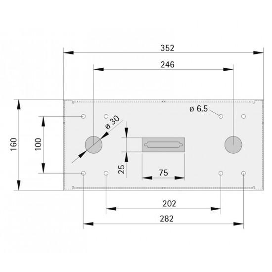 Desk-shaped fixture SIMPLE 352