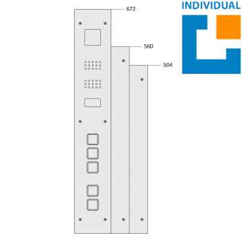 Kabinentableau 110 (Aluminiumprofil-Kasten)