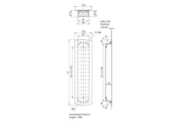 Kabinentableau 135 EPSILON (Aluminiumprofil-Kasten)