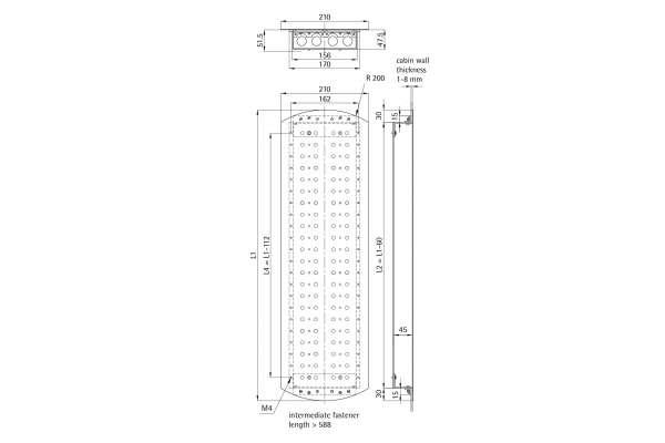 Kabinentableau 210 EPSILON (Aluminiumprofil-Kasten)