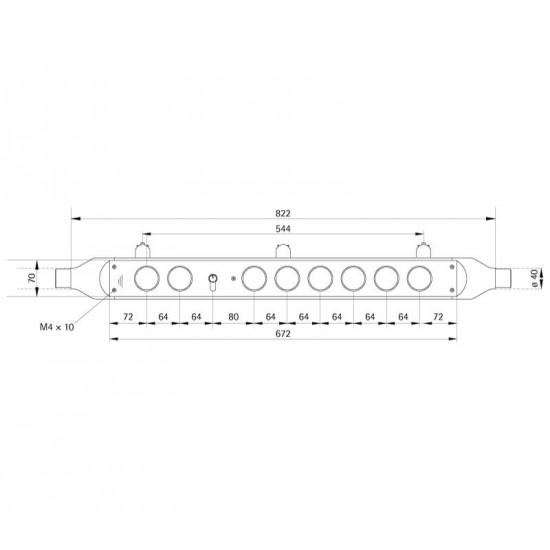 Handrail fixture TUBE 80