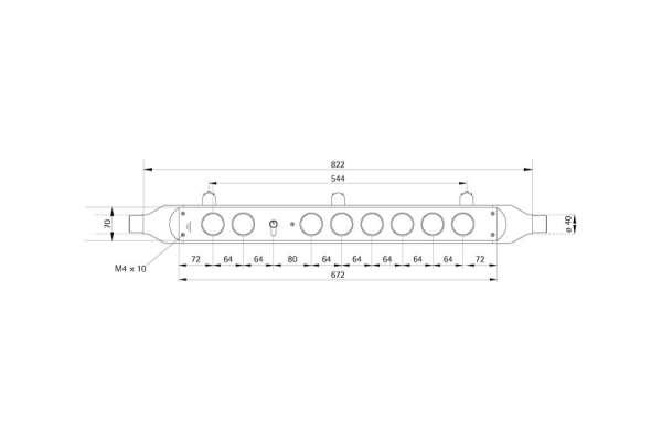 Handlauftableau TUBE 80