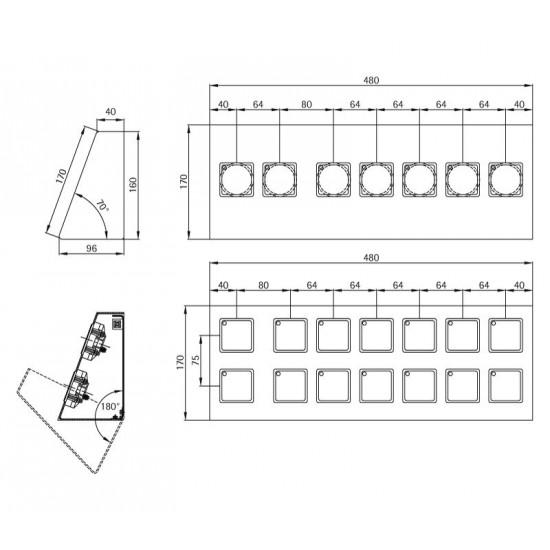 Desk-shaped fixture 480