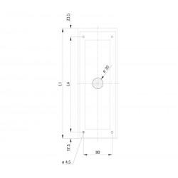 Landing fixture 110 prism-shaped
