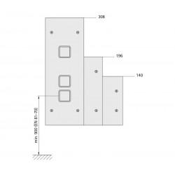 Landing fixture 110 (aluminum profile back box)
