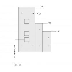 Landing fixture 110 (quick-action fastener)
