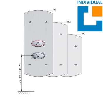 Ruftableau 135 EPSILON (Aluminiumprofil-Kasten)