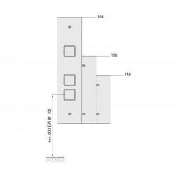 Landing fixture 72 (sheet metal frame)