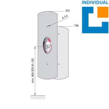 Ruftableau 72 EPSILON (Schnellbefestigung)