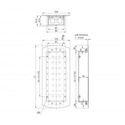 Landing fixture 135 EPSILON (aluminum profile back box)
