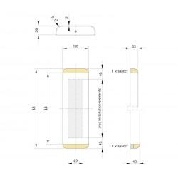 Landing fixture SIMPLE 110
