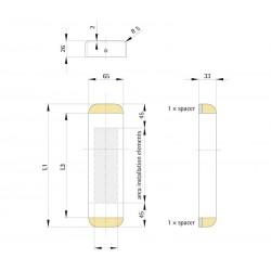 Landing fixture SIMPLE 65