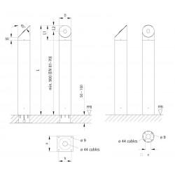 Column (round, two-piece variant)