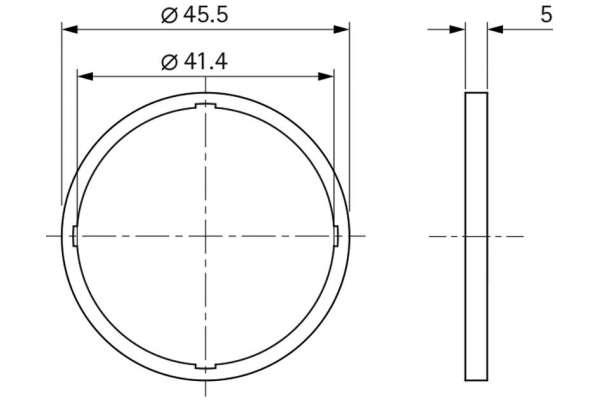 Unterlage Style 45 round (Kunststoff)