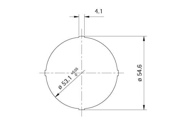 Rosette Style 50 round (Kunststoff)