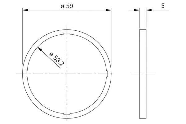 Unterlage Style 50 round (Kunststoff)