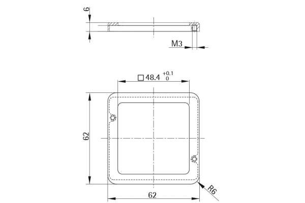 Unterlage Style 56 square (Metall)