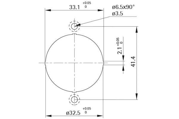Rosette Style 42 round (Metall)