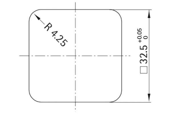 Rosette Style 42 square (Kunststoff)