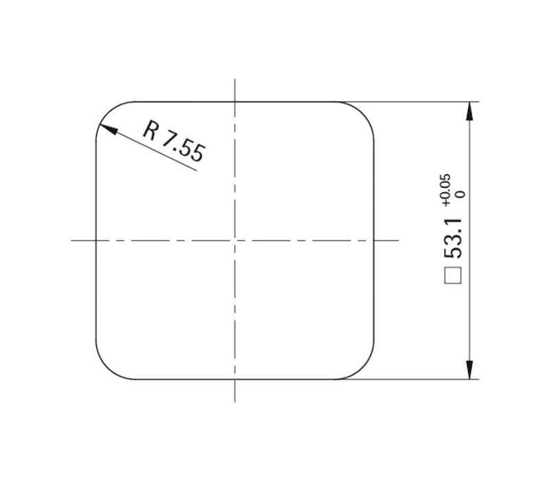 Unterlage Style 50 square (Kunststoff)