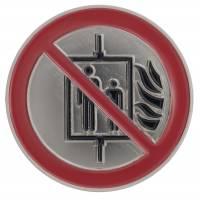 """Piktogramm: """"Aufzug im Brandfall nicht benutzen!"""""""