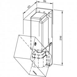 Surface mounting dispenser - type B
