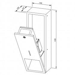 Flush mounting dispenser - type C