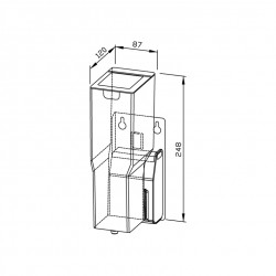 Surface mounting dispenser - type A