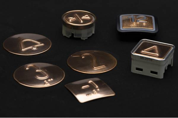 Kupfer Tastplatten