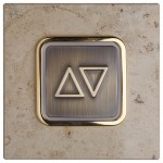B 50 pushbutton on genuine natural stone fixture